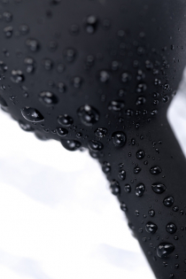 Анальная втулка POPO Pleasure by TOYFA со стразом S, силикон, черная, 7,2 см, Ø 2,8 см, 25 г