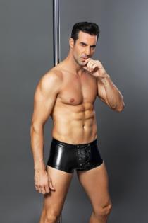 Боксеры wetlook Candy Boy Diesel с шнуровкой, черные, OS