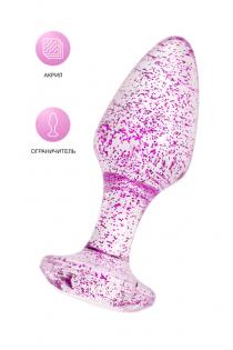 Анальная втулка TOYFA, акрил, фиолетовый, 8 см, Ø 2,8 см