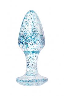 Анальная втулка TOYFA, акрил, голубой, 8 см, Ø 2,8 см