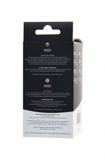 Анальная втулка POPO Pleasure by TOYFA Indi, водонепроницаемая, силикон, черная, 11,5 см, Ø 2,9 см