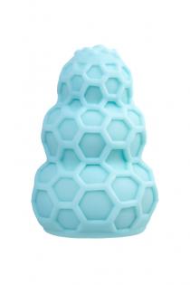 Мастурбатор A-Toys Flaff, TPE, бирюзовый, 8см, Ø 2,9 см