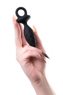 Анальная пробка Erotist Strob S - size, силикон, черная, 11,7 см