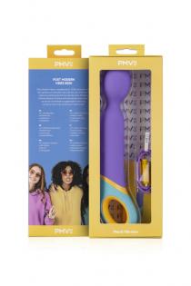 Нереалистичный вибратор PMV Base - Wand, силикон, фиолетовый, 24 см