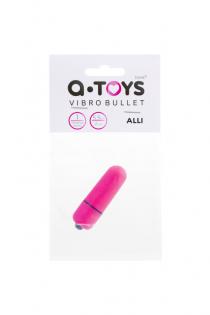 Вибропуля A-Toys Alli ABS пластик, розовый, 5,5 см, Ø 1,7 см