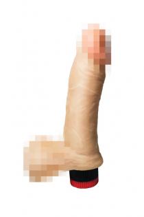 Вибромассажёр-реалистик Lovtoy, ПВХ, телесный, 16,5 см