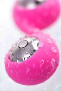 Вагинальные шарики L'Eroina Futa, силикон, розовые, 11 см, Ø 1,9 см, 63 г