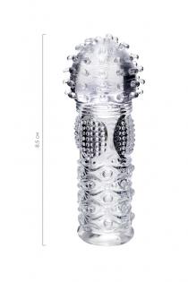 Насадка на палец A-Toys Hicks, TPE, прозрачный 8,5 см