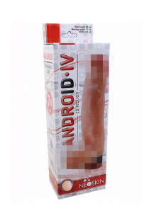 Вибромассажёр-реалистик ANDROID Long LoveToy, TPR, телесный, 17 см