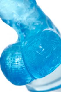 Реалистичный фаллоимитатор A-Toys by TOYFA Indy, TPE, голубой, 15,8 см