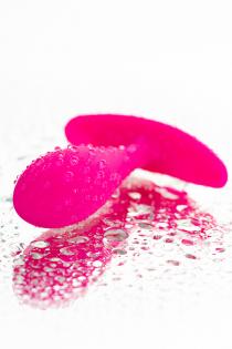 Анальная втулка Штучки-дрючки водонепроницаемая, силикон, розовая, 7,2 см, Ø 2 см