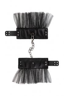 Наручники Штучки-дрючки с сеткой, черные