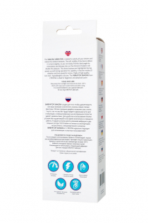 Вибратор с клиторальным стимулятором L'EROINA by TOYFA Sangra, силикон, бордовый, 20,5 см