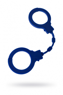 Наручники Штучки-дрючки, силикон, синие, 33 см
