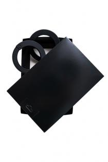 Наручники Штучки-дрючки, силикон, черные, 33 см