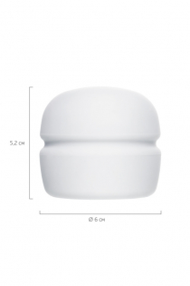 Насадка Magic Wand Silky touch для массажера Europe, силикон, белая, 4.5 см