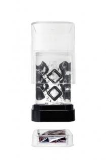 Нереалистичный мастурбатор TENGA Crysta Block, TPE, прозрачный, 15,5 см