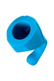 Насадка Magic Wand Genius для массажера Europe, силикон, синяя, 17 см