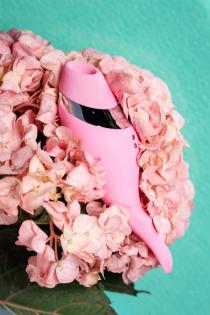 Многофункциональный стимулятор эрогенных зон Flovetta by Toyfa DAHLIA, силикон, розовый, 14 см