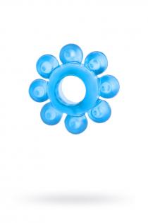 Эрекционное кольцо на пенис TOYFA, TPE, синий