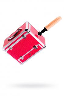 Секс-чемодан, Diva, Wiggler с двумя насадками, металл, розовый, 28 см
