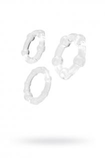 Набор колец TOYFA A-toys, Силикон, Прозрачный, Ø 3,5/3/2 см