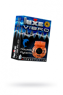 Виброкольцо LUXE VIBRO Кошмар русалки + презерватив, 1 шт
