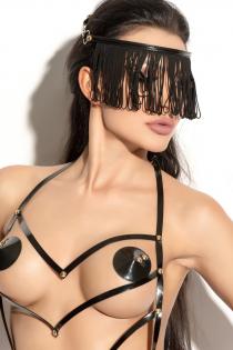 Украшение на голову Me Seduce Queen of hearts с длинной бахромой черное-OS