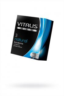 Презервативы ''VITALIS'' PREMIUM №3 natural - классические (ширина 53mm)