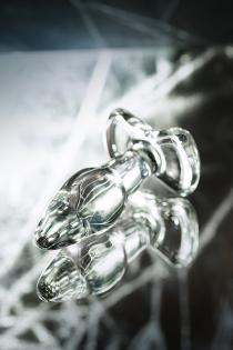 Анальная втулка Sexus Glass, Стекло, Прозрачный, 10,5 см
