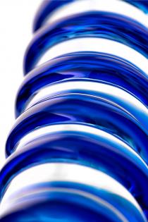 Двусторонний фаллоимитатор Sexus Glass, Сткекло, Прозрачный, 22см