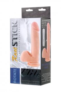 Ротатор TOYFA RealStick Elite, реалистичный, на присоске, SoftSkin, телесный, 17 см