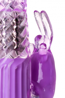Вибратор с клиторальным стимулятором TOYFA A-Toys  High-Tech fantasy, TPE, Фиолетовый, 22,5 см