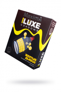 Презервативы Luxe Maxima Желтый дьявол №1, 1 шт