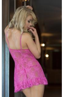Розовая кружевная ночная сорочка April