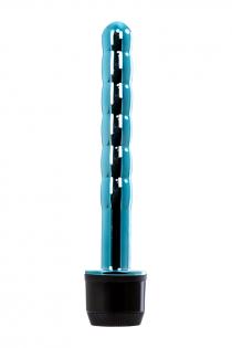 Вибратор TOYFA Trio Vibe, TPE, голубой, 15,5 см