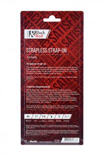 Безремневой страпон Black & Red by TOYFA с вибрацией, влагостойкий, силикон, чёрный, 35 см