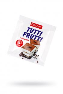 Съедобная гель-смазка TUTTI-FRUTTI для орального секса со вкусом тирамису 4г по 20 шт в упаковке