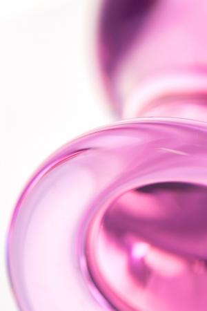 Анальная втулка Sexus Glass, стекло, розовая, 10 см, Ø 4 см