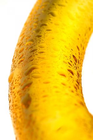 Нереалистичный фаллоимитатор Sexus Glass, стекло, желтый, 17,5 см