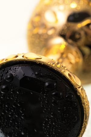Анальная втулка Metal by TOYFA, металл, золотистая, с черным кристаллом, 7,5 см, Ø 3 см, 145 г