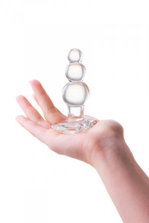 Анальная втулка Sexus Glass, стекло, прозрачная, 10,5 см, Ø 3,5 см