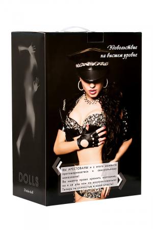 Кукла надувная Cop Samantha реалистичная голова,брюнетка, TOYFA Dolls-X, с тремя отверстиями, вставка вагина – анус, костюм полицейской,160 см
