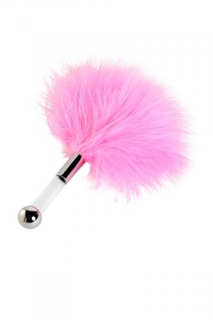 Щекоталка TOYFA Theatre, пластик, перо, розовая