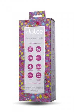 Вибратор TOYFA Dolce Jaden, силикон, розовый, 12,5см