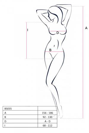 Боди-сетка Passion Erotic Line, розовое, OS
