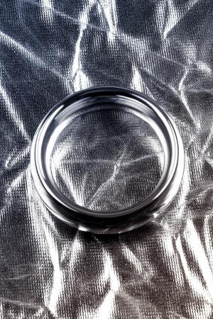 Эрекционное кольцо на пенис Metal by TOYFA  , Металл, Серебристый, Ø 4 см