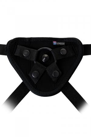 Страпон на креплении LoveToy Uni strap 8 ''Black belt champion'' c 2 насадками
