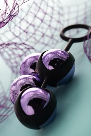Вагинальные шарики TOYFA A-Toys, ABS пластик, Фиолетовый, 14,6 см
