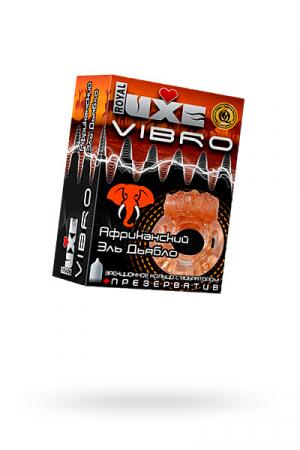 Виброкольцо LUXE VIBRO Африканский Эль Дьябло + презерватив, 1шт
